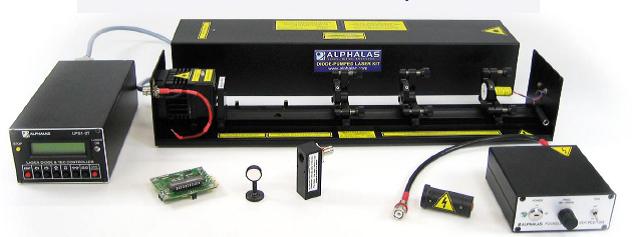 Alphalas調Q激光器實驗系統